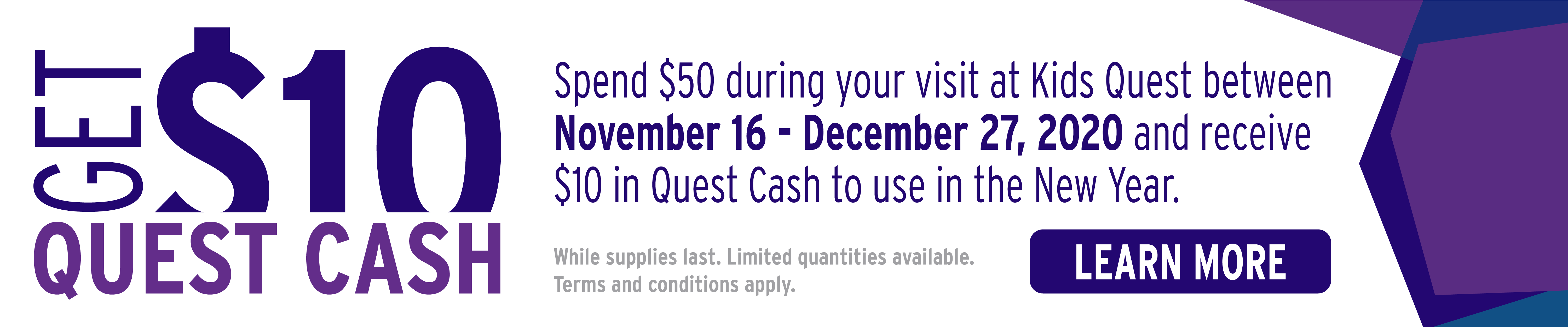 Quest Cash at Kids Quest