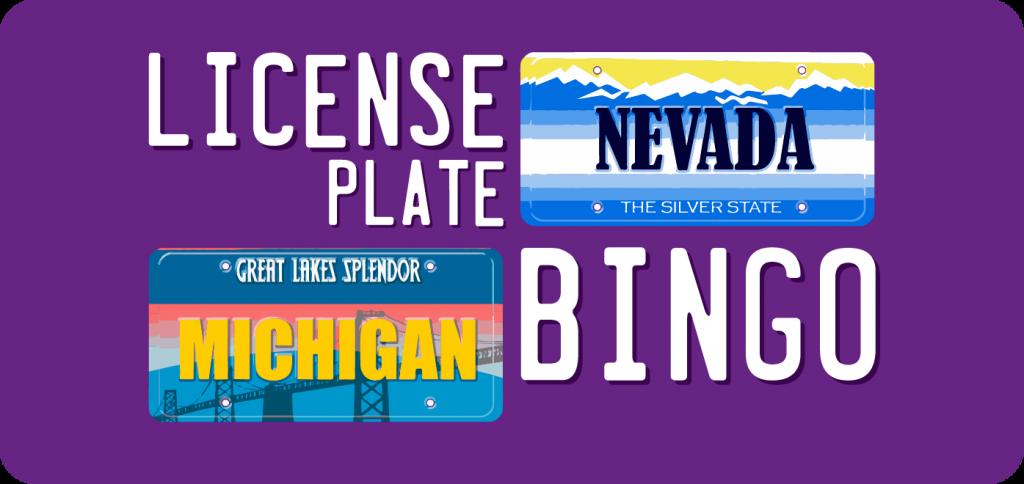 license plate bingo kids quest