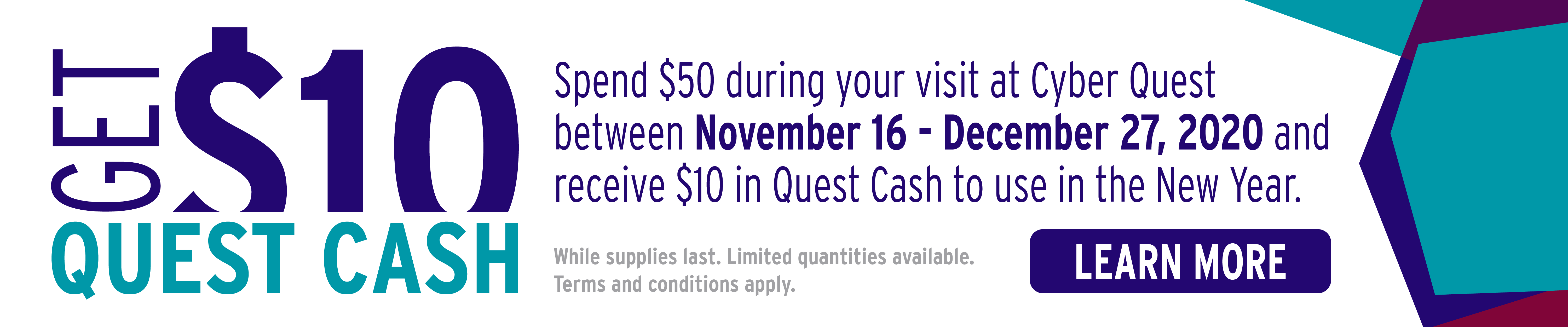Quest Cash at Cyber Quest