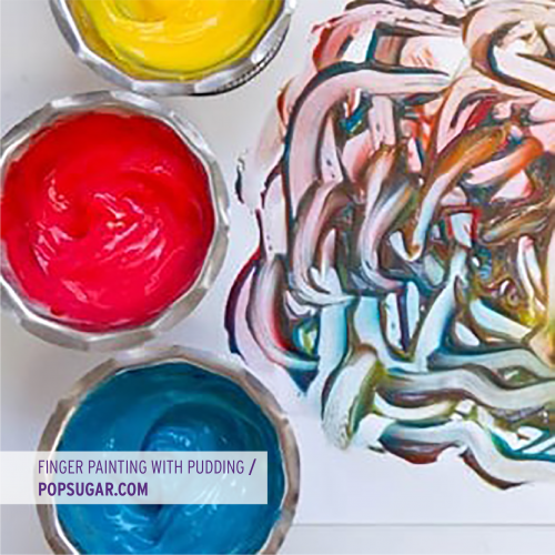 Finger Painting with Pudding