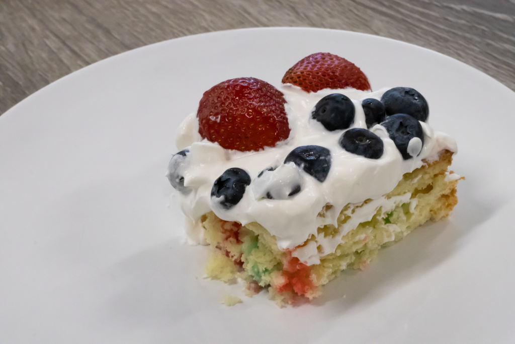Patriot Poke Cake